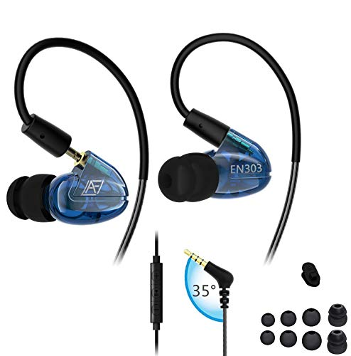 Over Ear Wired Headphones,Noise Isolating Sweatproof Sport Earbuds Earphone with Mic for Running Jogging Gym,Cell Phone Headset