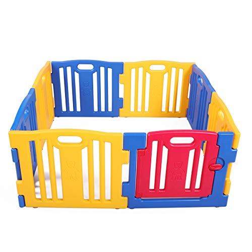 Baby Playpen 8 Panel Kids Safety Play Center Yard Home Indoor Outdoor Fence New