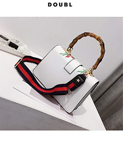 Elegantes Crossbody Shopper Moda Impermeables Blanco Niña Mano Chica Hf Bolso Handbag Pequeño Bolsas De Hombro Bolsos Cuero Bandolera Morning Patrón Casual fqczxc6aTw