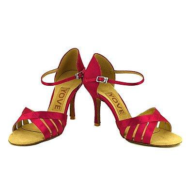 de Rojo Baile purple Salsa Personalizables Amarillo Zapatos Tacón Azul KYDJ Personalizado Morado Latino Blanco Rosa Negro 458pgUxwq