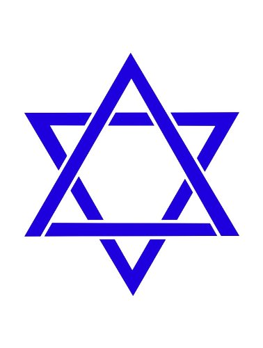 Faux Like a Pro Jewish Star Stencil, 5.5 by 7-Inch, Single Overlay ()