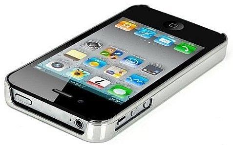 Itronik Apple iPhone 4 / 4S Cover Alu, Hard Case Schutz Hülle silber