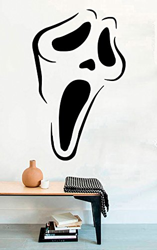 (Scream Mask Vinyl Wall Decals Halloween Film Movie Vinyl Wall Decor Stickers)