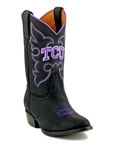 Gameday Boots NCAA TCU Horned Frogs Boys, Black, ()