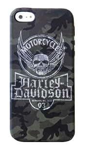 2015 CustomizedHarley-Davidson iPhone 5/5s Shell Printed TPU Camo Skull Logo Case 07614