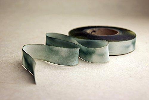 2.5'' (62mm) Hand dyed silk ribbon bias cut 38 yard spool - Color 515 Grey