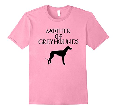 Mens Mother of Greyhounds | Funny Dog T-Shirt & Gift E010660 2XL Pink