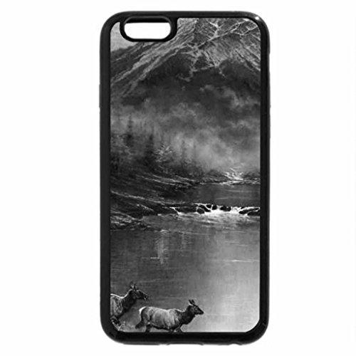 iPhone 6S Plus Case, iPhone 6 Plus Case (Black & White) - beautiful fall river in autumn