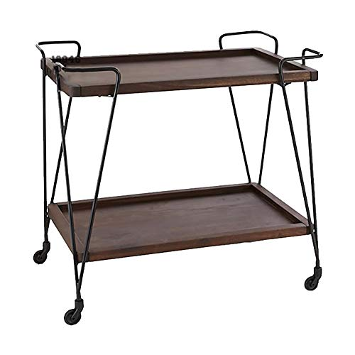 Kitchen Cart European Wrought Iron Hotel Dining Car, Trolley Wine Rack Multi-Function Rack Home Trolley with Wheels (603575cm) by Kitchen Cart (Image #6)