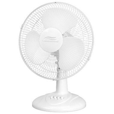 Lakewood Oscillating Table Fan, 12 Inch (LDF1210B-WM) ()
