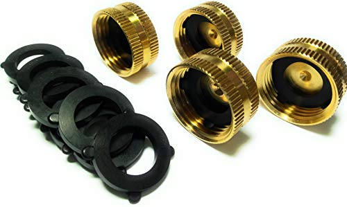 Garden Hose Female End Cap Set, Heavy Duty, Lead-Free, Leak-Free, Connect To Hose and Spigot End, Extra 10 Washers.