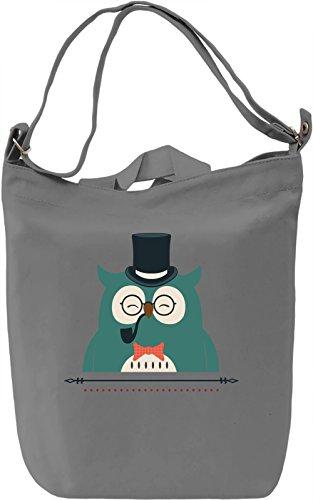 Classy owl Borsa Giornaliera Canvas Canvas Day Bag| 100% Premium Cotton Canvas| DTG Printing|