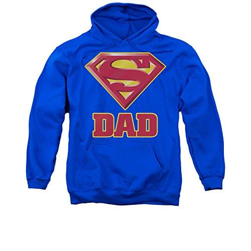 Superman DC Comics Super Dad Adult Pull-Over (Superman Adult Mens Hoodie)