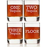"Chloe and Madison""One, Two, Three Tequila Floor"" Shot Glass, Set of 4"
