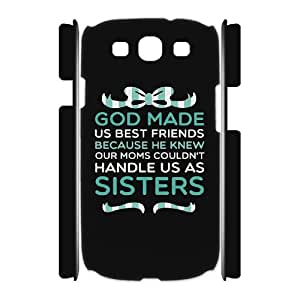 FLYBAI Summer Short & Tall Girls Best Friend Matching CouplePhone 3D Case For Samsung Galaxy S3 I9300 [Pattern-2]