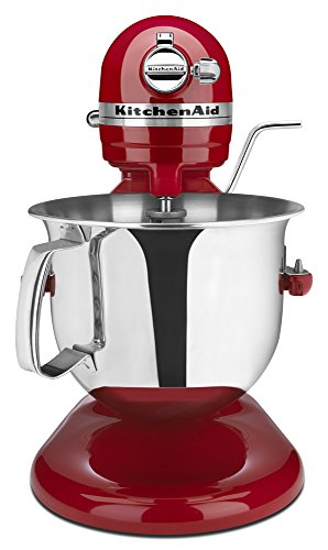 KitchenAid Certified Refurbished RKSM6573ER 6-Qt. Professional Bowl-Lift Stand Mixer - Empire Red (Kitchen Professional Hd Mixer Aid)