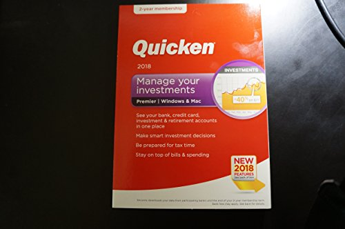 Price comparison product image Quicken Premier 2018 - 24 Month Membership For Windows & MAC