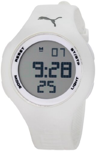 PUMA Unisex PU910801010 Drop White Digital Watch