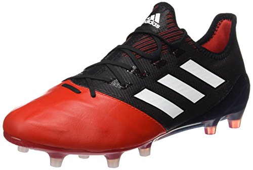 adidas Ace 17.1 Leather FG, Scarpe da Calcio Uomo Nero (Core Black/Footwear White/Red)