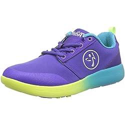 Zumba Women's Court Flow Dance Shoe, Purple, 7 M US
