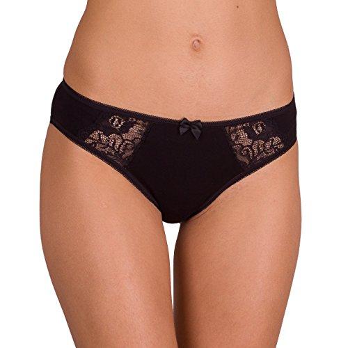 023 0202 Cotton For Body Womens Underwear Bikini Panties Sexy Briefs Panty Pack USA4/EUR S Black 6 Pack