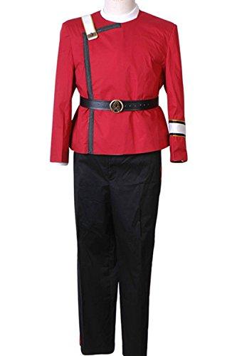 Wolfbar Men's Wrath Of Khan Kirk Spock Uniform Halloween Costume Small ()
