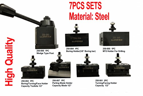 7PCs Set 0XA Wedge Type Quick Change Tool Post Set For Mini Lathe up to 9