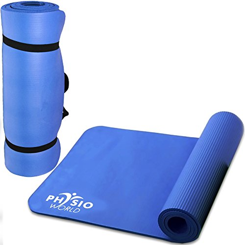 Physio World Thick Exercise Mat - 10mm Blue by phy
