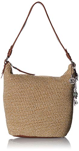 Crochet Hobo Handbag - The Sak The Sequoia Crochet Hobo, Bamboo Static