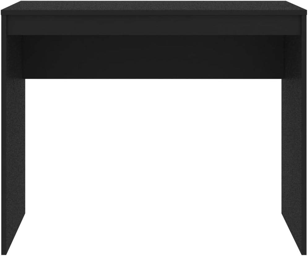 vidaXL Scrivania Moderna Elegante Robusta Tavolo da Lavoro Ufficio Studio Mobile Porta PC Consolle Decorativa Bianca in Truciolato