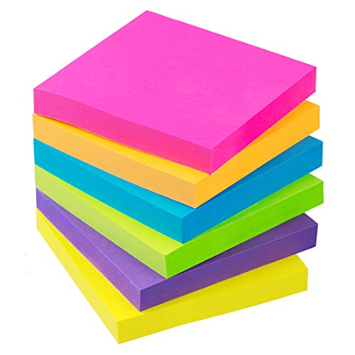 Sticky Notes 3x3 Inch 6 Bright Color 100 -