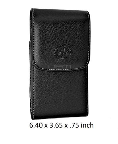 Vertical Leather Pouch Carrying Case with Swivel Belt Clip Holster for Xiaomi Mi Note 3 Devices - (Fits with Otterbox Defender, Commuter, LifeProof Cover On It) -  NEM