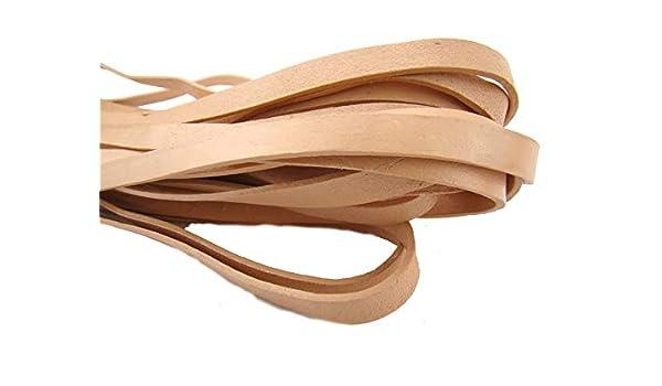 cintas de cuero correa de piel Colgante 7 mm naturaleza y de colores en diferentes longitudes