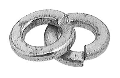 "Split Lock Washer, Steel, Zinc Finish, 1/2"" Bolt Size, 0.5120"" ID, 0.8690"" OD, 0.1250"" Thick, Pack Of 100"