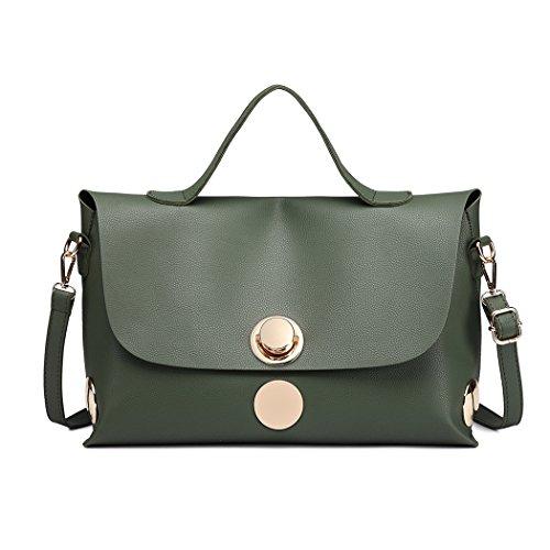 Miss Lulu - Bolso de asas para mujer Verde verde Verde