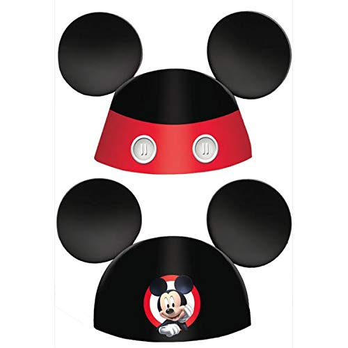 Mickey Mouse Clubhouse Party Hat, Mickey Ears, 8 Count, Party Supplies