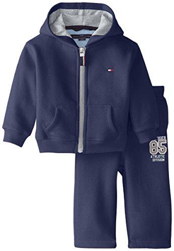 Tommy Hilfiger Baby Boys' Draper Fleece Sweatsuit Set, Swim Navy, 6 Months