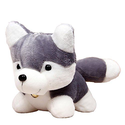 ZevenMart 25cm Husky Plush Toy Simulation Dog Baby Sleeping Appease Doll Kids Birthday Gifts