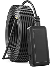 Cámara de Endoscopio, Cámara de Inspección de Boroscopio WiFi 0.2in 5MP con 6 LED, IP67 a Prueba de Agua, para Teléfonos Inteligentes iOS/Android(Cable de 10m)
