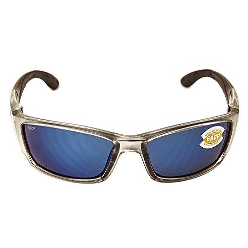 Costa Del Mar Corbina Sunglasses Silver/Blue Mirror - Corbina Costa
