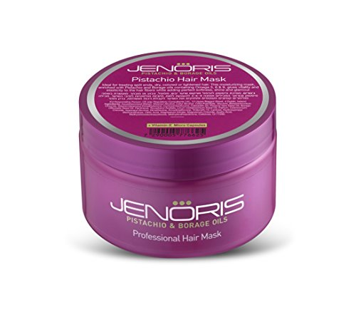 Borage Oil 250 Capsules (Jenoris Pistachio Hair Mask 8.45ounce/250 Deeply Nourishing Treatment Repairs and Prevents Damage. for Dry, Colored, Lightened Hair or any Post Chemical Treatment. Infused with Pistachio Oil)