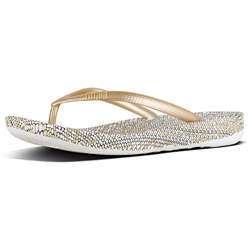 Snakeprint Tongs FitFlop Iqushion Gold 562 Mix Or Femme pqFBwExF