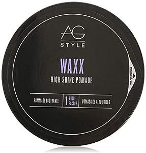 AG Hair Style Waxx High Shine Pomade 2.5 Fl Oz by Mainspring America, Inc. DBA Direct Cosmetics