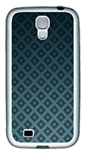 Samsung Galaxy I9500 Case and Cover - Green Stars Texture PC Rubber Soft Case Back Cover for Samsung Galaxy S4/I9500 White