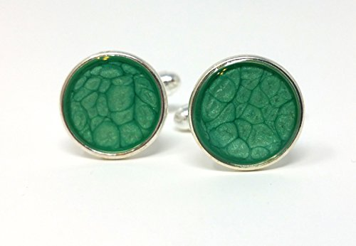 Green Handmade Cufflinks - 4
