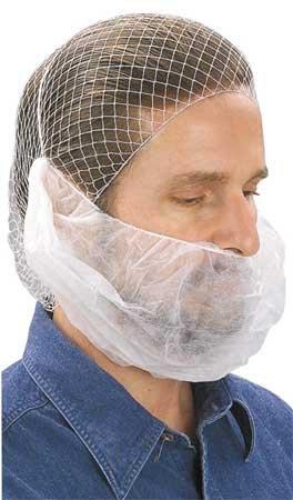 Beard Net, White, 100 Pieces by Cellucap by Cellucap