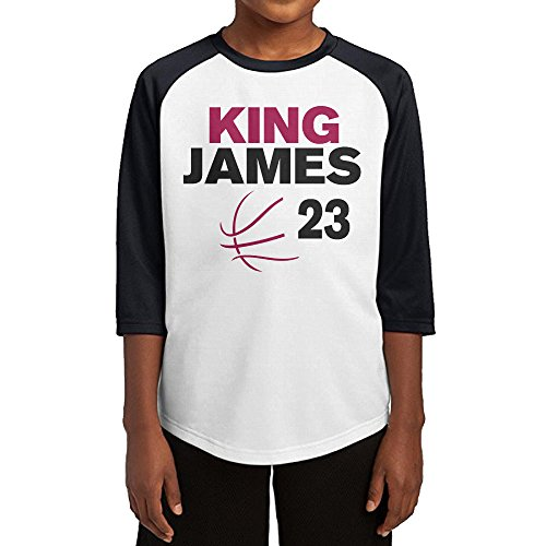 Price comparison product image Hotboy19 Youth Boys Cleveland #23 Player Raglan Tee Baseball Shirt Black Size XL