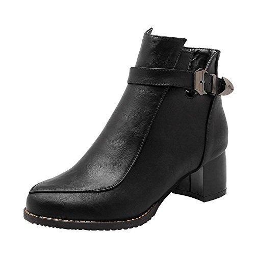 Dames Retro Halflange Korte Laarzen Met Col