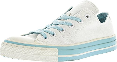 Zapatillas De Deporte De Lona Converse Chuck Taylor Double Tongue Ox Tobillo-high Canvas Blanco / Azul