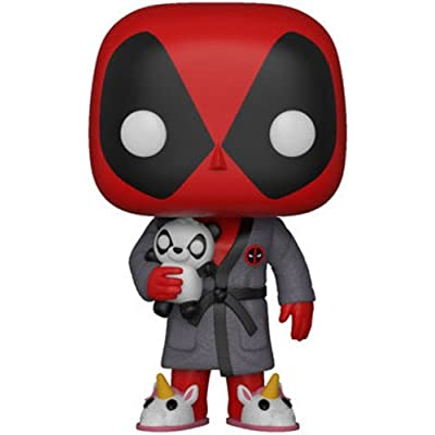 Funko POP! Marvel: Deadpool Playtime - Deadpool in Robe: Funko Pop! Marvel:: Toys & Games